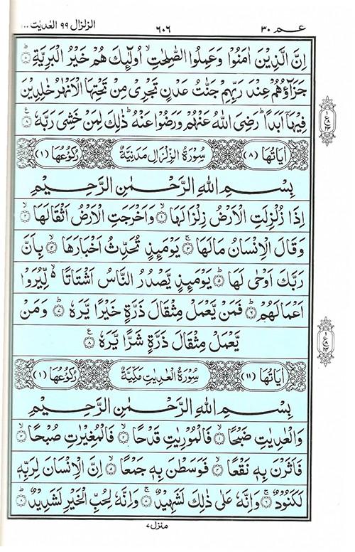 Quran Surah Zalzalah - Read Quran Surah Al Zalzalah at eQuranAcademy