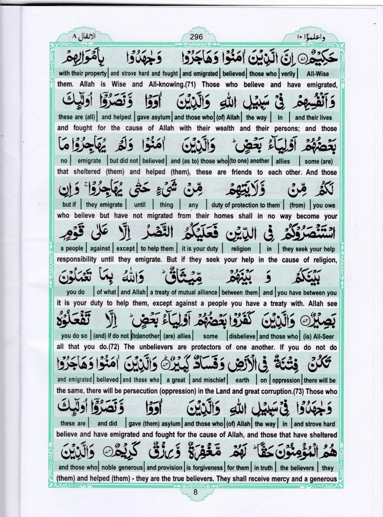 Read Holy Quran Para 10 Online - Read Quran in English Online at eQuranAcademy.com
