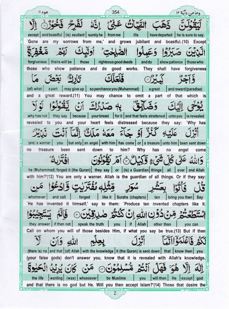 Read Holy Quran Para 12 Online - Read Quran in English Online at eQuranAcademy.com