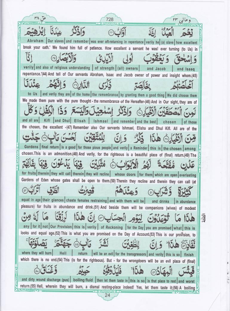 Holy Quran Para 23 | Recite Quran Para English Translation Online