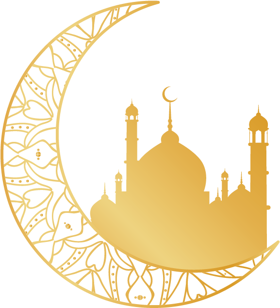Islsamic Moon Mosque Icon